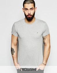 Farah T Shirt With F Logo Slim Fit Exclusive Grey