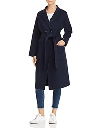 Anine Bing Dylan Wool And Cashmere Trench Coat Navy