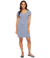 Lole Energic Dress Dazzling Blue Stripe Women's Dress Gray