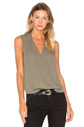 Three Eighty Two Monroe Surplice Top Army