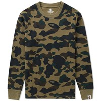 A Bathing Ape 1St Camo Thermal Tee Green