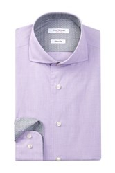 Isaac Mizrahi Long Sleeve Slim Fit Solid Dress Shirt Purple