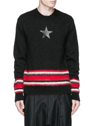 Givenchy Star Print Mohair Sweater