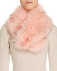 Cara Accessories Faux Fur Collar Light Pink
