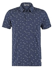 Only And Sons Onsaop Polo Shirt Mood Indigo Dark Blue