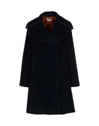 Hoss Intropia Coats Dark Blue