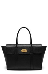 Mulberry Small Bayswater Grained Leather Satchel