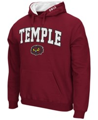 Colosseum Men's Temple Owls Arch Logo Hoodie Maroon