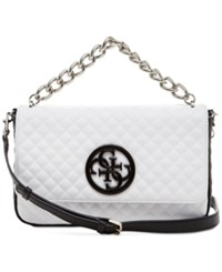 Guess G Lux Crossbody Flap White Multi