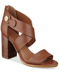 Tommy Hilfiger Paradise Strappy Sandals Women's Shoes Caramel