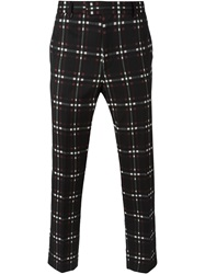 Msgm Checked Trousers Black