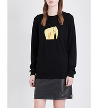 Loewe Elephant Knit Wool Blend Jumper Black