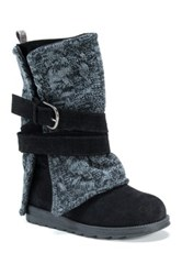 Muk Luks Nevia Convertible Sweater Boot Black
