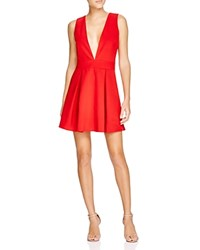 Lucy Paris Deep V Neck Dress Bloomingdale's Exclusive Red
