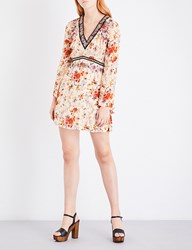 The Kooples Fleurs D'artifice Crepe Dress Mu01