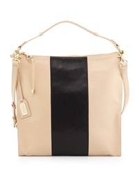 Badgley Mischka Taryn Colorblock Hobo Bag Latte Black