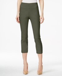 Style And Co Petite Pull On Capri Pants Only At Macy's Olive Spring