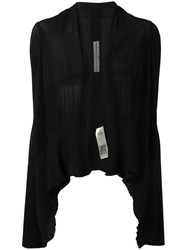 Rick Owens Short Wrap Cardigan Black