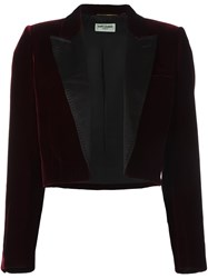 Saint Laurent 'Spencer' Velvet Blazer Red