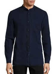 Wesc Oya Cat Eye Buttoned Shirt Marina Blue