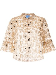 Macgraw Bourgeois Embellished Top Gold