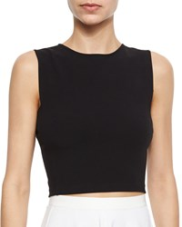 Theory Pagia Sleeveless Knit Crop Top Marina
