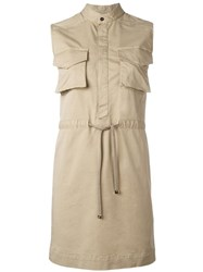 Dsquared2 Sleeveless Shirt Dress Nude Neutrals