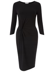 Miss Selfridge Twist Front Midi Dress Black