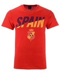 Fifth Sun Spain National Team Gym Wedge World Cup T Shirt Red Blue Yellow