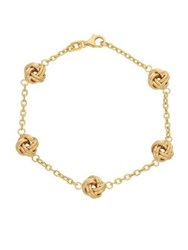 Lord And Taylor 14K Yellow Gold Knot Chain Bracelet