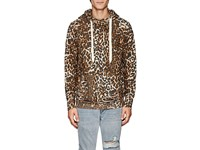 Nsf Distressed Leopard Print Cotton Hoodie Multi