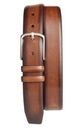 Mezlan Men's Palma Leather Belt Camel