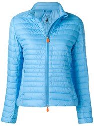 Save The Duck Zip Padded Jacket Blue
