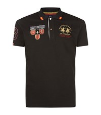 La Martina Logo Polo Shirt Male Black