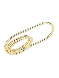Jules Smith Designs Safety Pin Knuckle Ring Gold