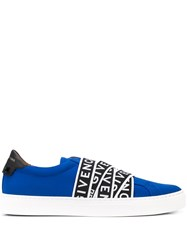 Givenchy Logo Tape Slip On Sneakers Blue