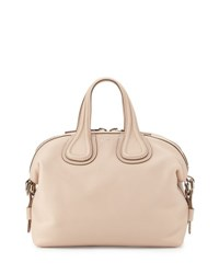 Givenchy Nightingale Small Waxy Leather Satchel Bag Nude Pink Flesh