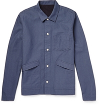 Folk Lightweight Cotton Canvas Jacket Blue