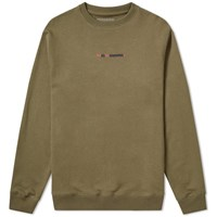 Mhi Maharishi Long Redacted Miltype Crew Sweat Green