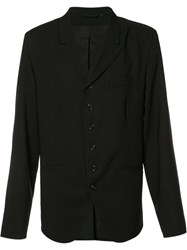 Ann Demeulemeester Button Blazer Black