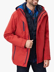 Joules Rockwell 3 In 1 Waterproof Jacket Soft Red