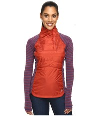 Smartwool Double Propulsion 60 Pullover Moab Rust Women's Long Sleeve Pullover Red