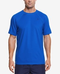Nike Men's Hydro Performance Upf 40 Swim Shirt Hyper Cobalt