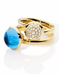 Tamara Comolli Bouton 18K Yellow Gold Pave Diamond Ring