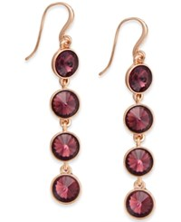 Charter Club Bezel Set Crystal Linear Earrings Only At Macy's Purple Rose