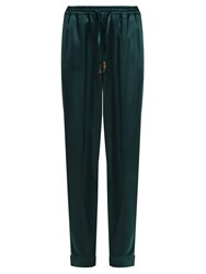 Morpho Luna Zac Satin Pyjama Trousers Dark Green