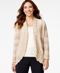 Alfred Dunner Textured Shimmer Cardigan