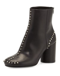 Maison Martin Margiela Studded Leather Round Heel Ankle Boot Black