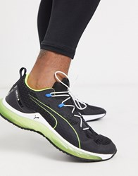 Puma Training Lqd Cell Trainers In Black And Yellow