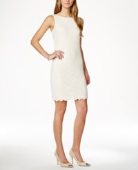 Charter Club Petite Textured Lace Sheath Dress Only At Macy's